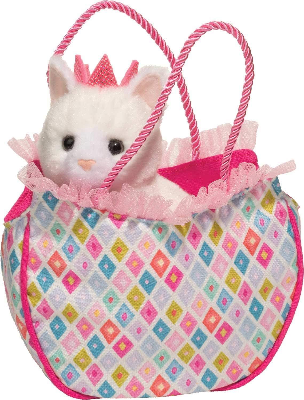 Douglas Diamond Kitty Sassy Sak with Cat Plush Stuffed Animal