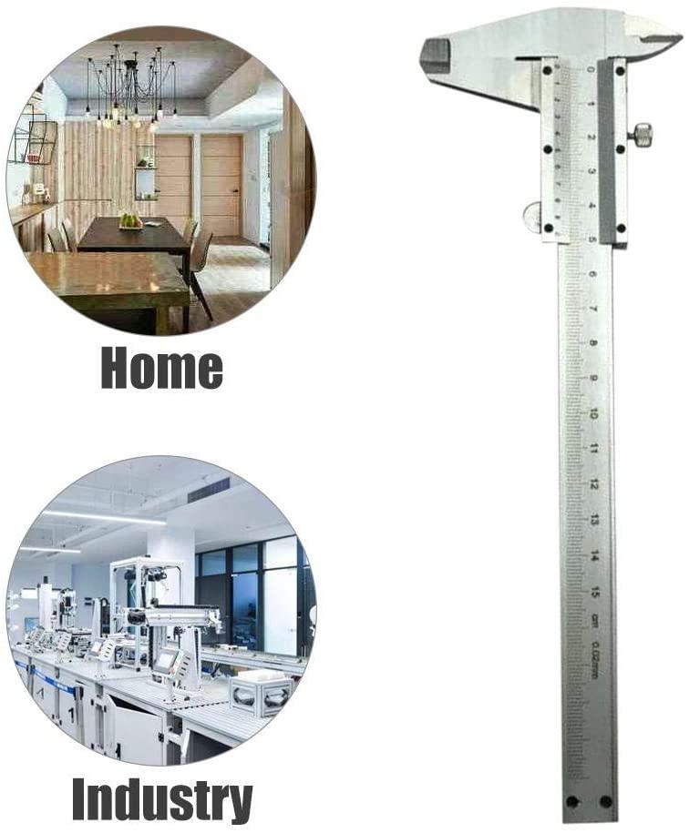 Vernier Caliper Stainless Steel High Precision Measuring Tool for Depth