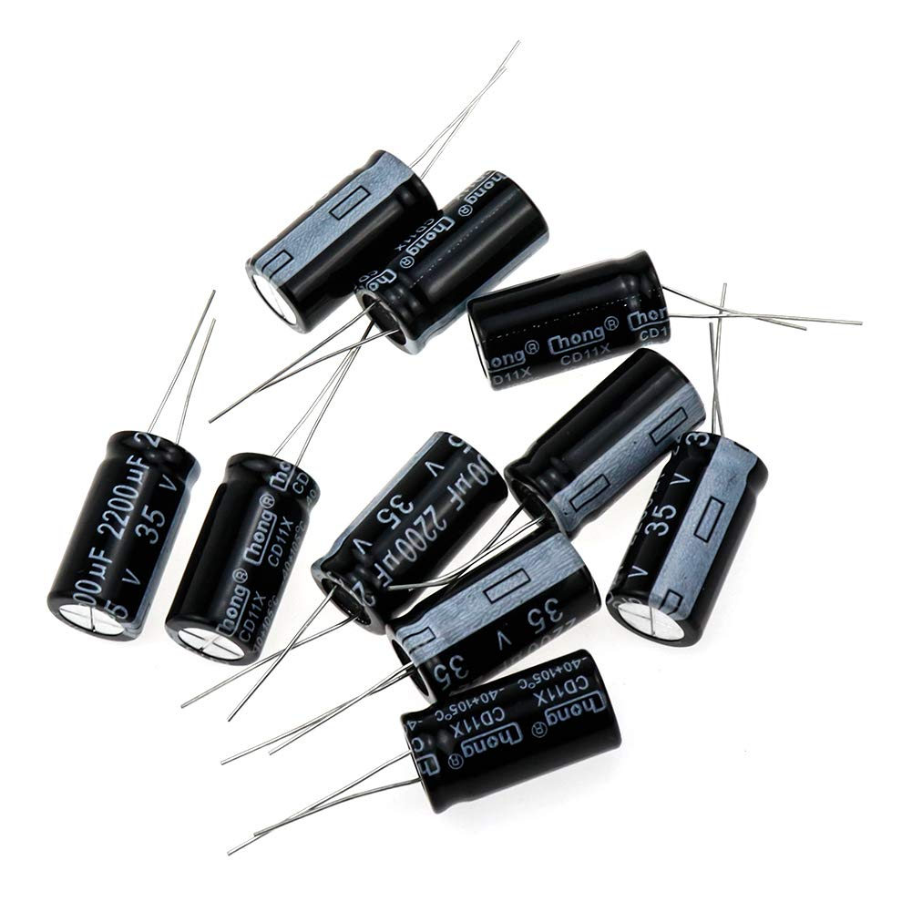 Yohii 2200uF 35V Aluminum Electrolytic Capacitors for The LCD TV & Monitor Repair Radial Lead Capacitor 10Pcs