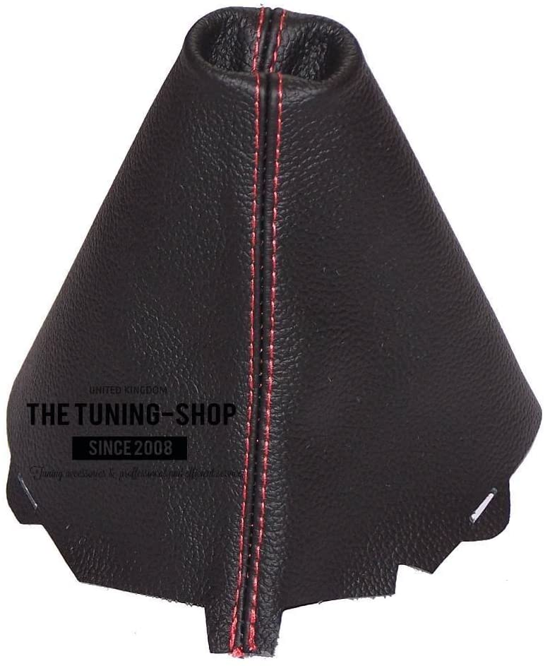 The Tuning-Shop Ltd Shift Boot Custom Made Shift Boot Black Genuine Italian Leather with Red Stitching
