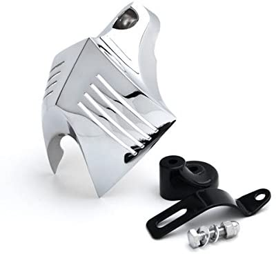Krator NP006 Chrome Big Twins Horn for Stock Cowbell Horns Cover (Harley Davidson Motorcycle 1992-2013)