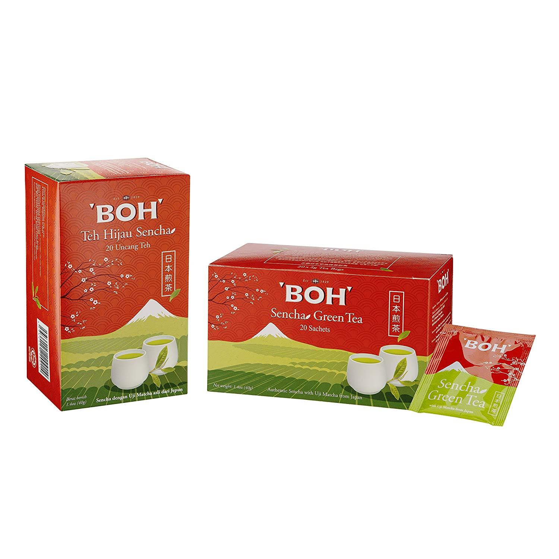 BOH Sencha Green Tea, 40 Total Tea Bags