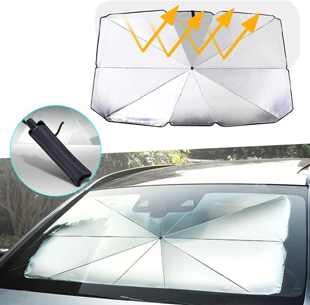 Car Windshield Sun Shade Umbrella for Land Rover Freelander 2 Foldable Sun Shield Easy to Use/Store,Blocks UV Rays Keeps Vehicle Cool 14579 cm