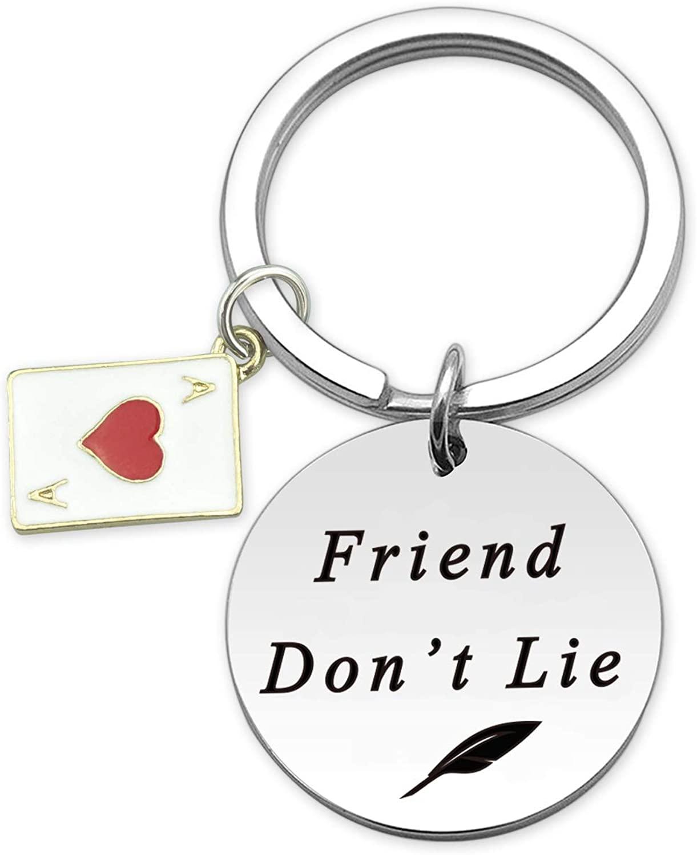 HN HNHB Friend Don't Lie Friend Keychain Christmas Jewelry Gifts