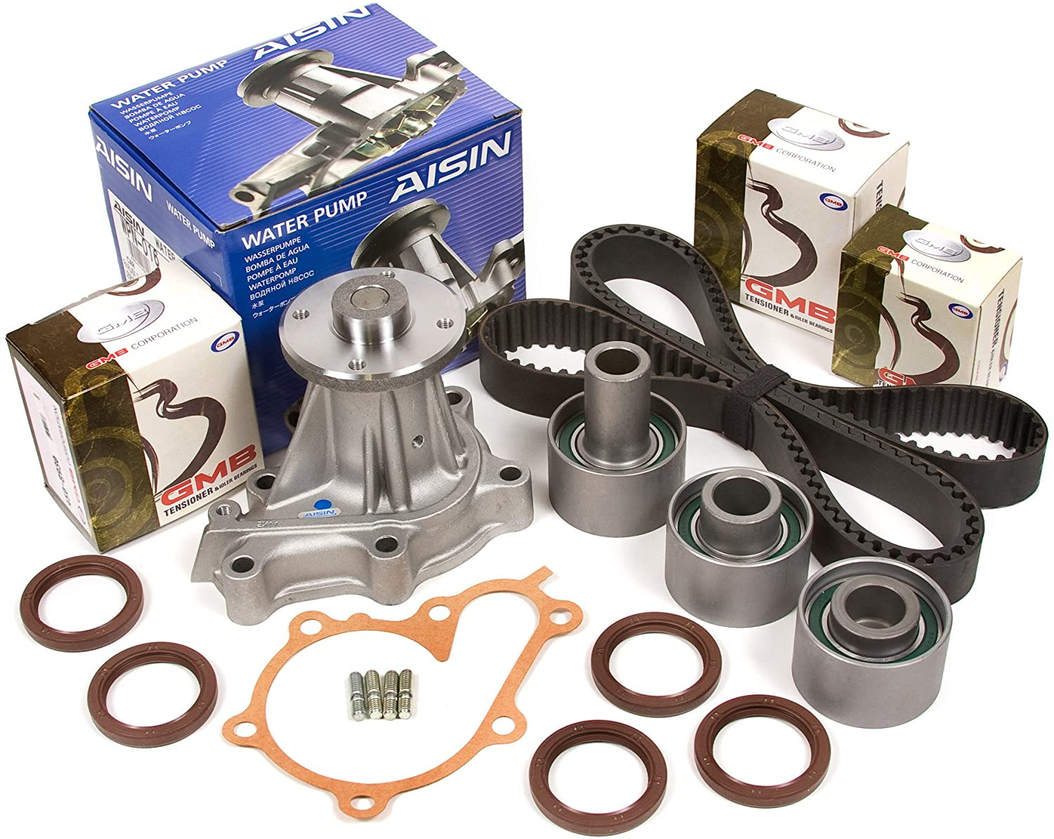 Evergreen TBK180WPA Compatible With Nissan 300ZX 3.0L Turbo VG30DETT Timing Belt Kit AISIN Water Pump
