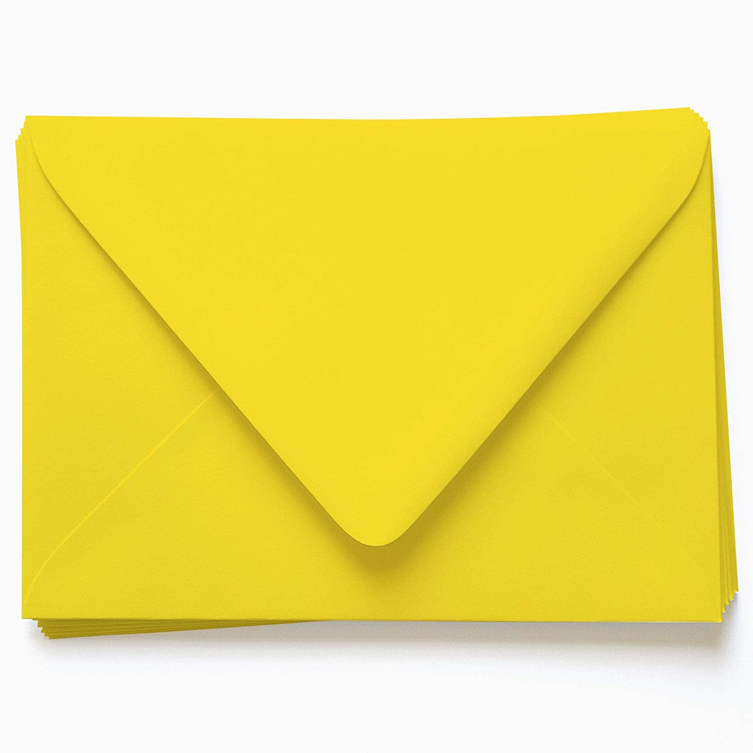 A1 Gmund Colors Matt Canary Yellow Envelopes - Euro Flap, 68T, 25 Pack