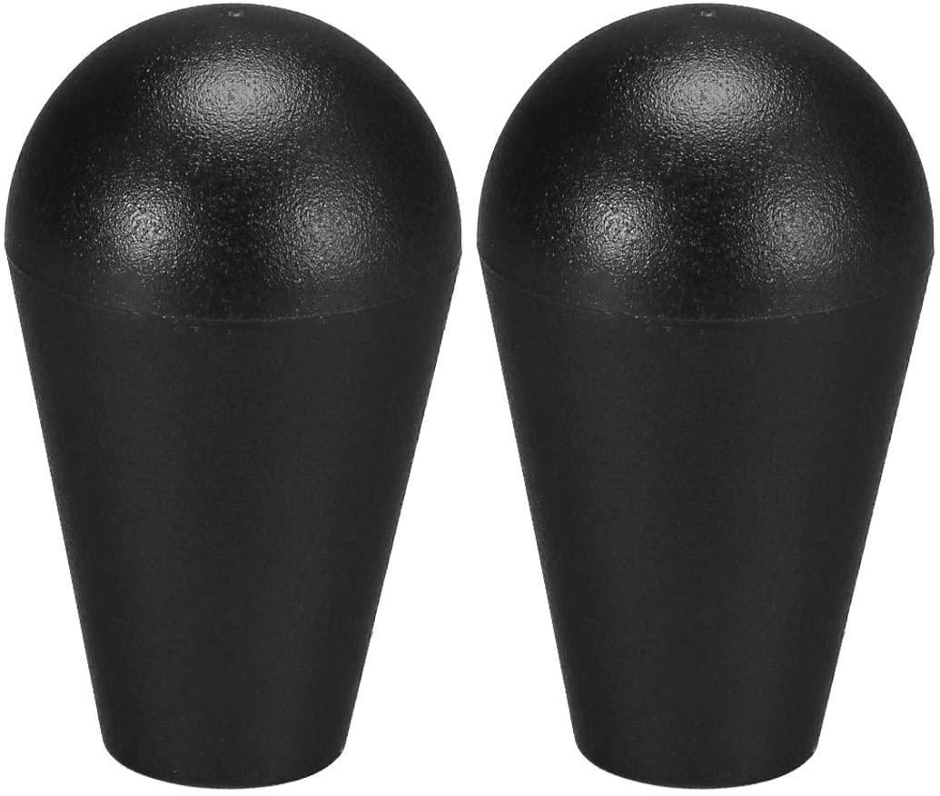 uxcell Ellipse Oval Joystick Head Rocker Ball Top Handle American Type Arcade Game DIY Parts Replacement Black 2Pcs