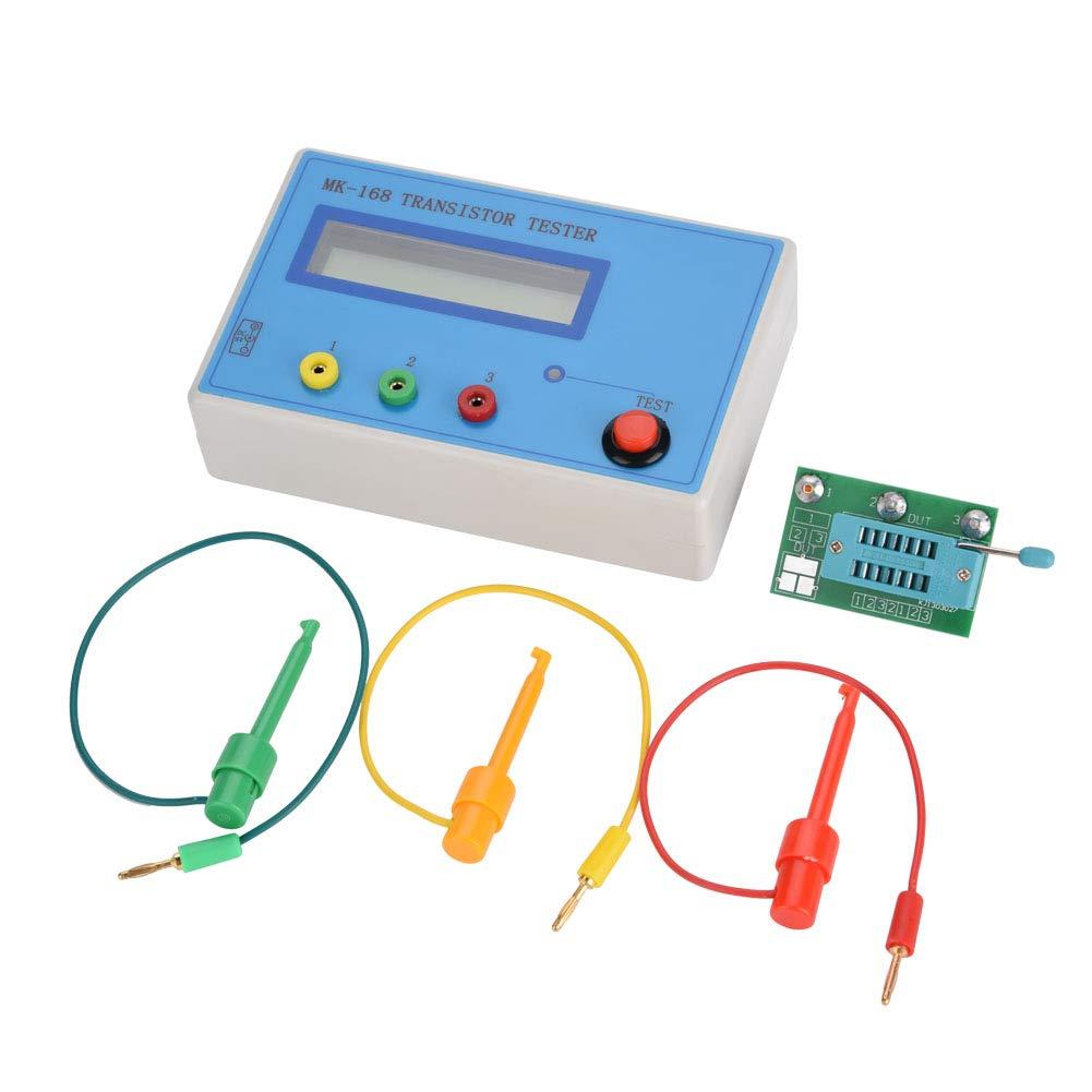 Transistor Tester, MK-168 Transistor Tester Diode Triode Capacitance Resistance ESR RLC LCR NPN PNP MOS Meter,Capacitance Tester