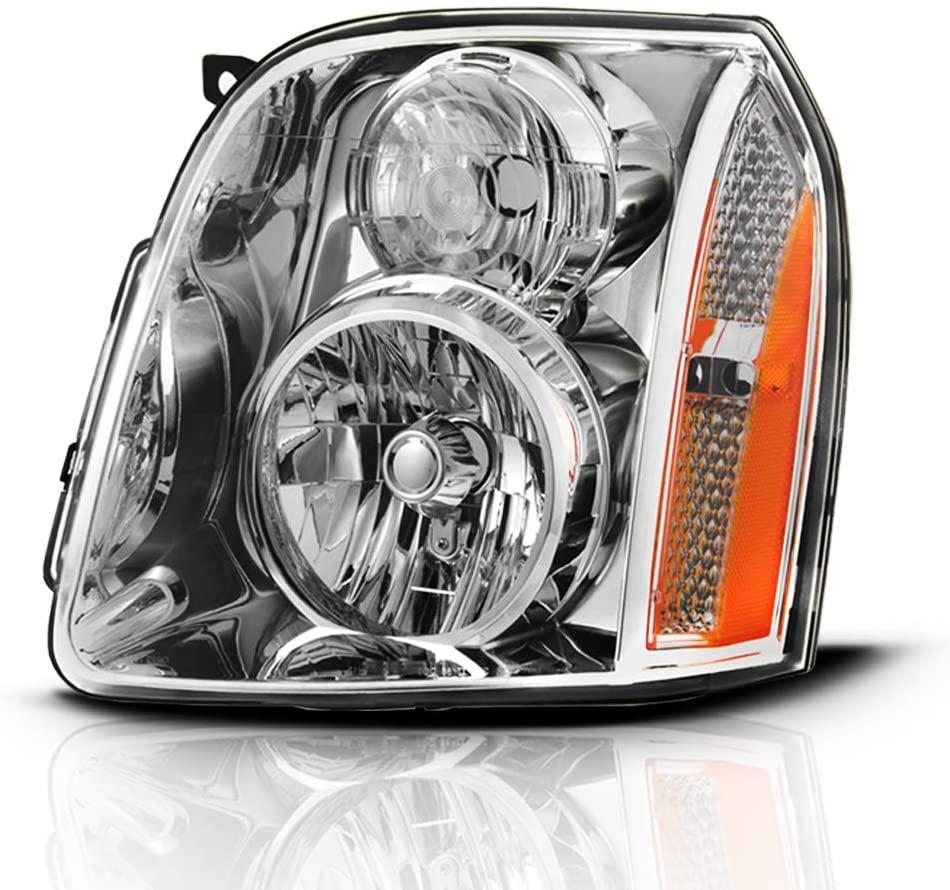 ACANII - For 2007-2014 GMC Yukon Denali  XL 1500 2500 Denali Denali Hybrid Headlight Headlamp Assembly RH Passenger Side