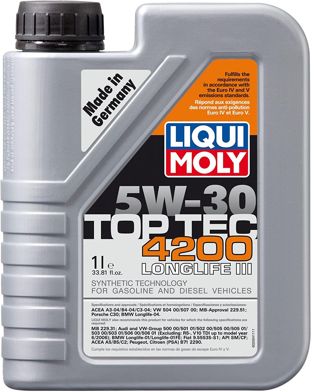 Liqui Moly (2004) Top Tec 4200 5W-30 Synthetic Motor Oil - 1 Liter Bottle