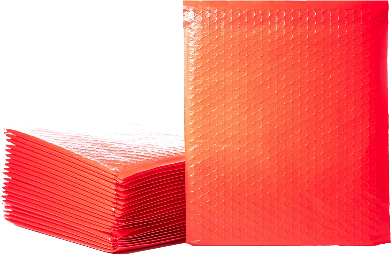 Empire Mailers #2 8.5 x 12-inch Red Padded Envelopes, Self Seal Mailers, Bubble-Lined Shipping Envelopes, Mail-Approved Poly Bubble Mailers, Self-Sealed Mailing Packages, Pack of 25
