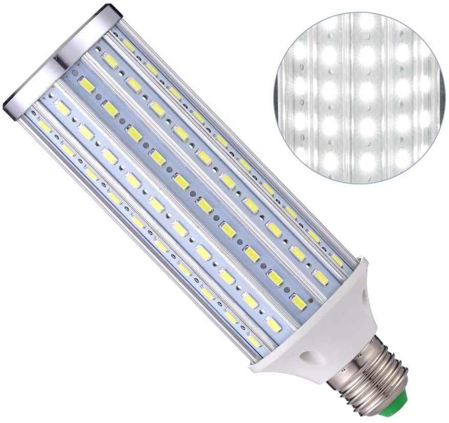 HengBo LED Studio Light Bulb, E26 40W Medium Screw Base 150W Equivalent Super Bright Daylight Full Spectrum Corn Light Bulb for Garage Warehouse Factory Photography Video Studio Lighting