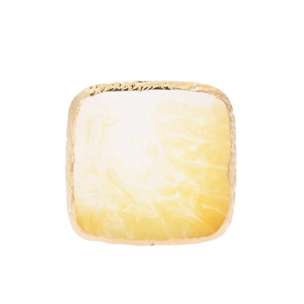Nail Art Mixing Palette - Vobor Natural Resin Stone Nail Art Plate, Drawing Color Mixing Pigment Holder, Nail Tips Display Nail Art Tools Kits(yellow)