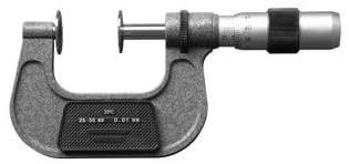 MeterTo Common Normal Line Micrometer, Range: 25-50mm, Resolution: 0.01mm