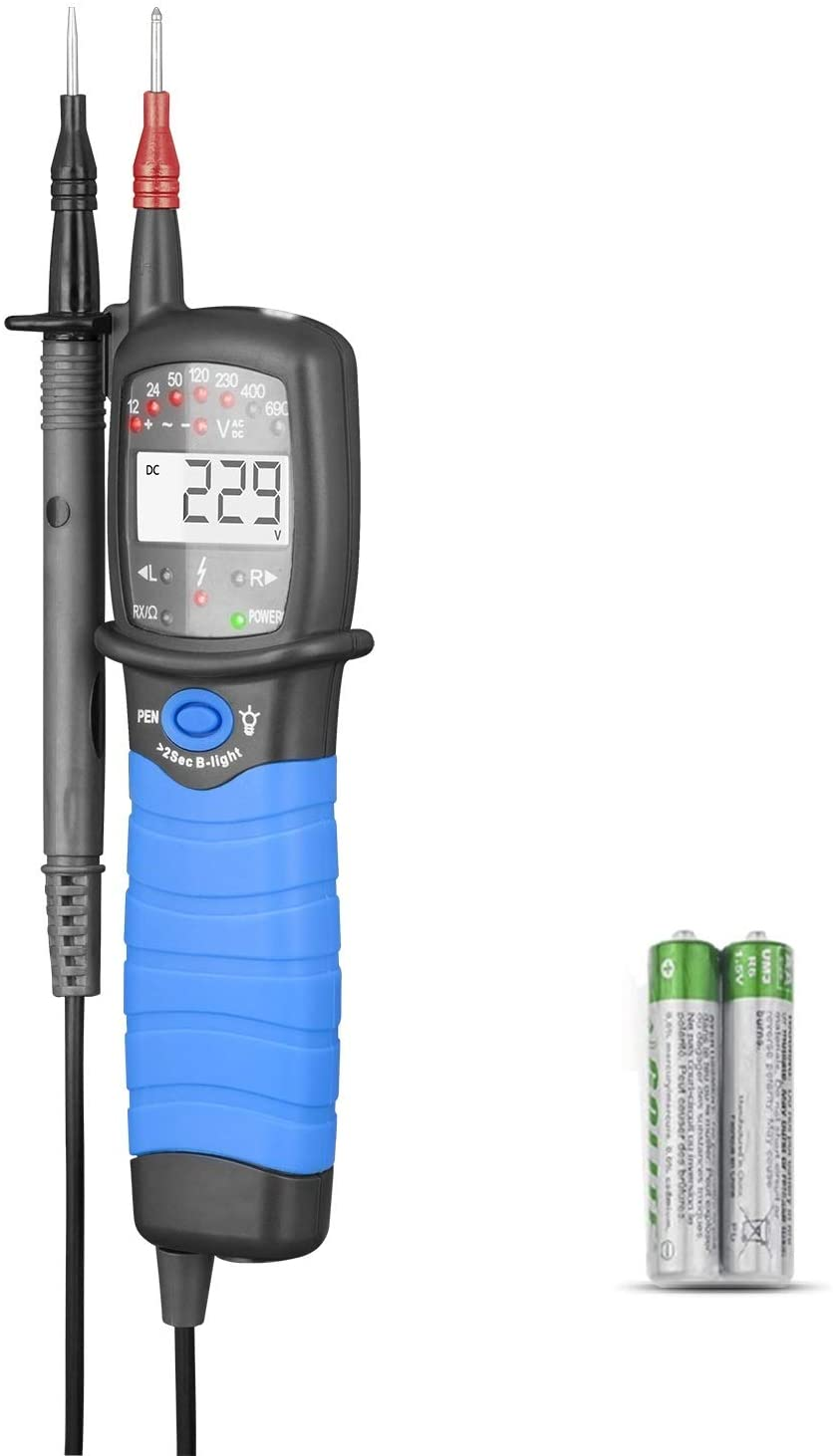 ANNMETER Handheld Voltage Tester AN-38A, Pen Type DC/AC Measurement Meter, Digital High Voltage Indication Gauge,Auto Data Hold Electrical Device with Pen Back Light