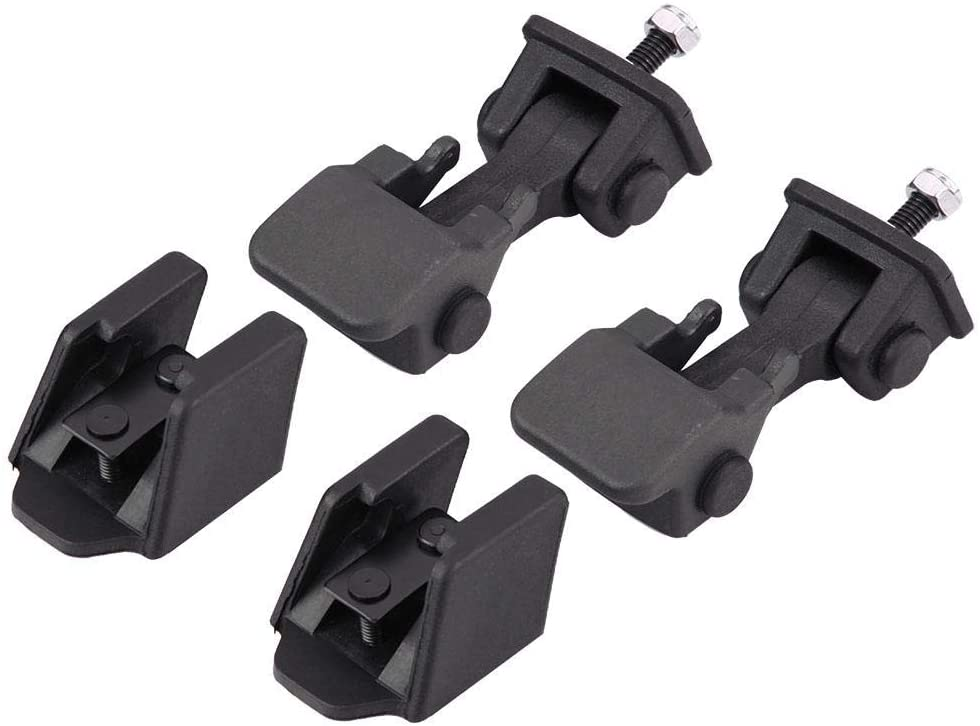 Hood Latch Catch,2 Pair Front Hood Latch Safety Catch & Bracket for Jeep Wrangler TJ 97-06