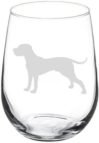 Wine Glass Goblet Great Dane (17 oz Stemless)