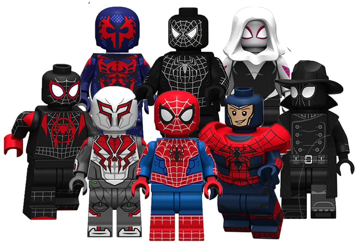 JUSTGIVE New Spider Action Figures Set - Deluxe Action Heroes from Spider Movie - Gift for Boys and Girls (New 8 Heroes)