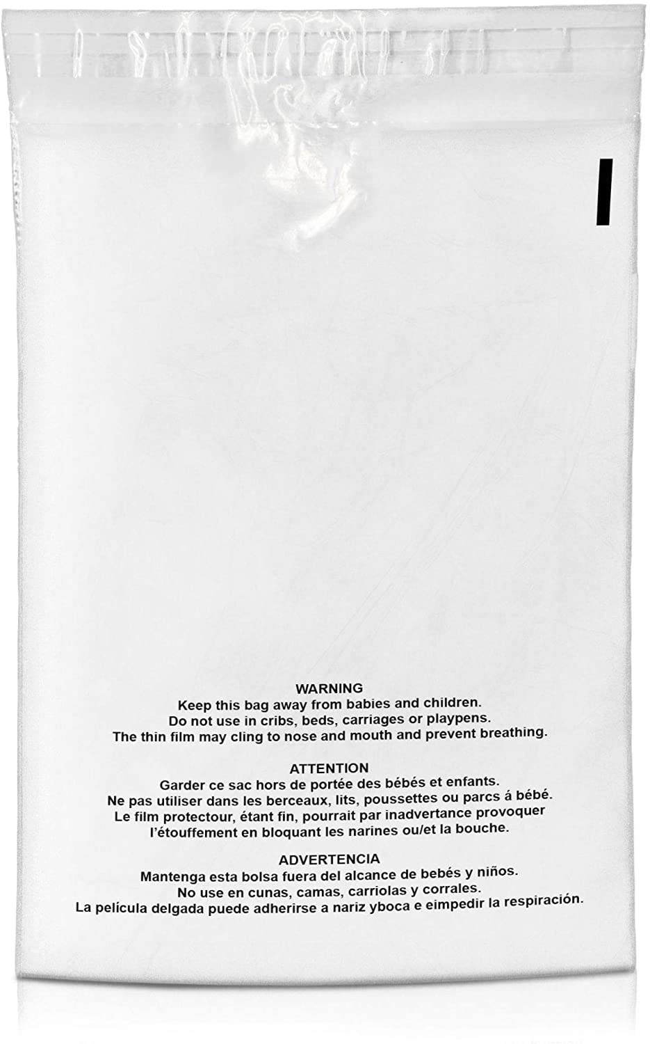 Shop4Mailers 19 x 24 Suffocation Warning Clear Plastic Self Seal Poly Bags 1.5 Mil (750 Pack)
