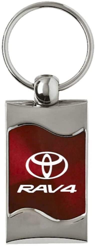 Au-Tomotive Gold, INC. Toyota Rav4 Rectangular Burgundy Fob