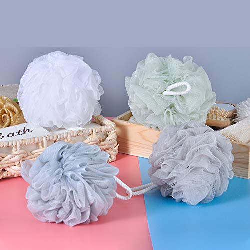 Bath Shower Sponge Loofahs, 4Pack Bath Pouf Puff, 60g Shower Loofah