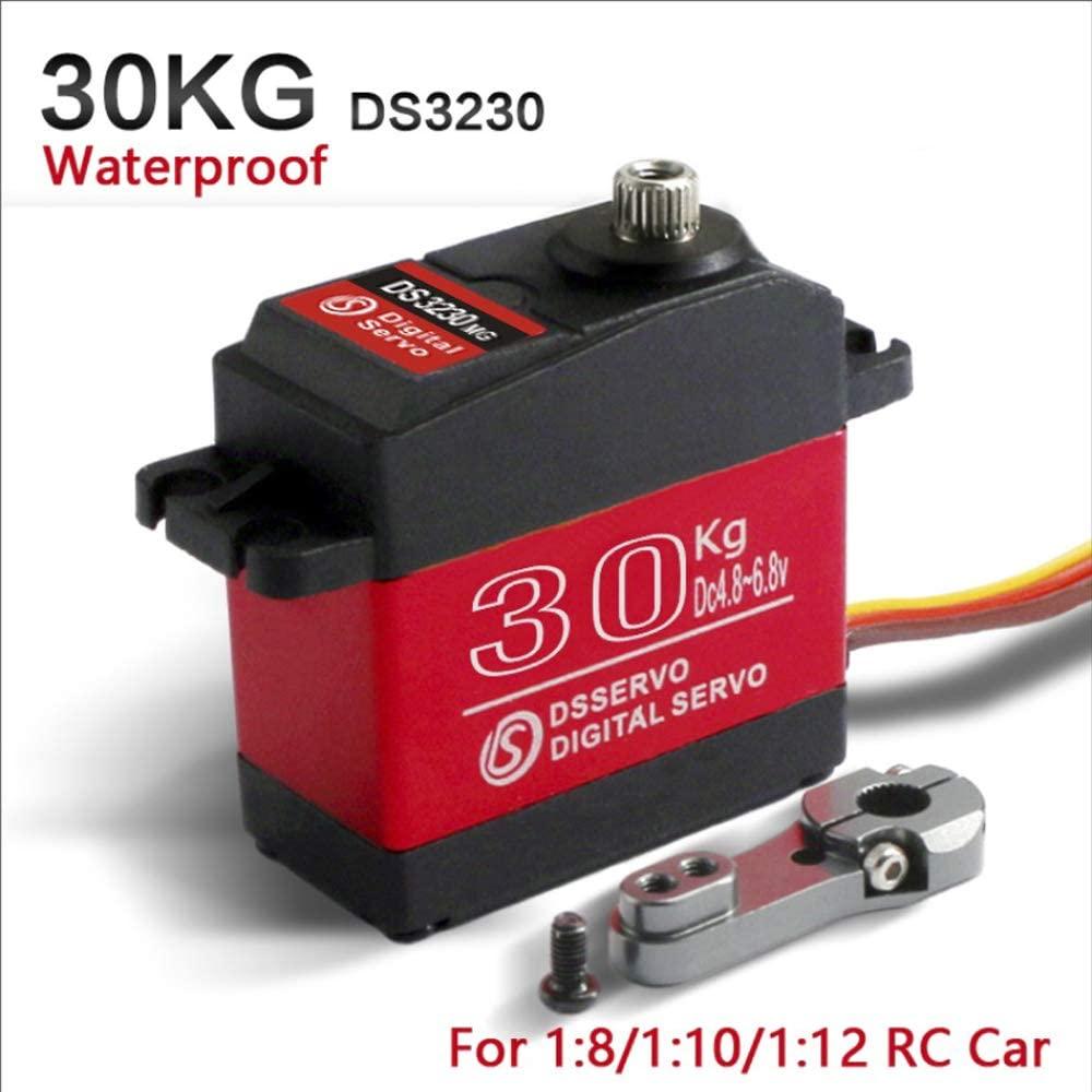 LJWRC DS3230MG 30KG Waterproof Metal Gear Digital Servo for 1/8 1/10 1/12 RC Cars (270 Degree)
