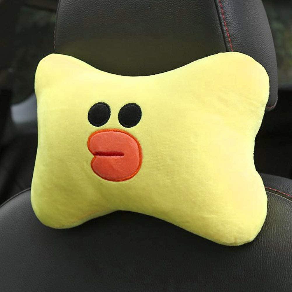 Tianmei 2PCS Cute Cartoon Pattern Car Headrest Pillow, Neck Rest Cushion Pillow, Car Neckrest Pad Head Support Pillow