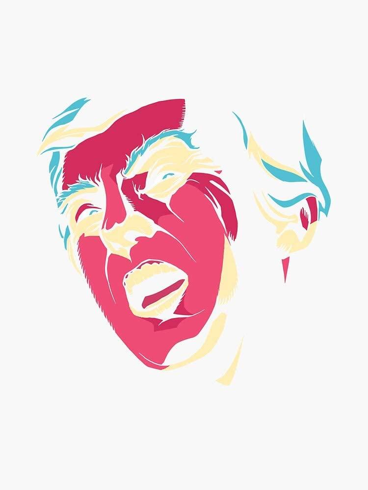 Creepy Trump Bumper Sticker Vinyl Decal Waterproof Window Sticker 5