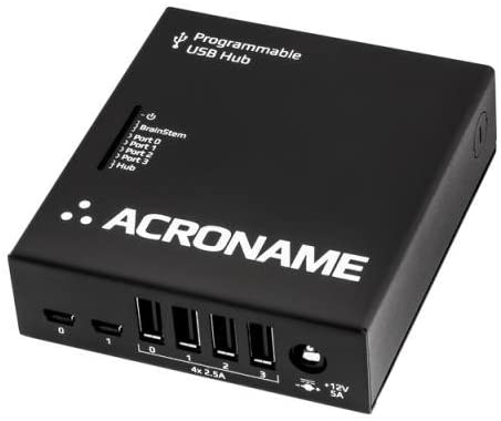 Programmable Industrial USB 2.0 Hub, 4 Port, 2 Host, 15kV ESD, Software Control, Fast Charge, Measure Current, Over-Current Protection, DIN Rail mountable