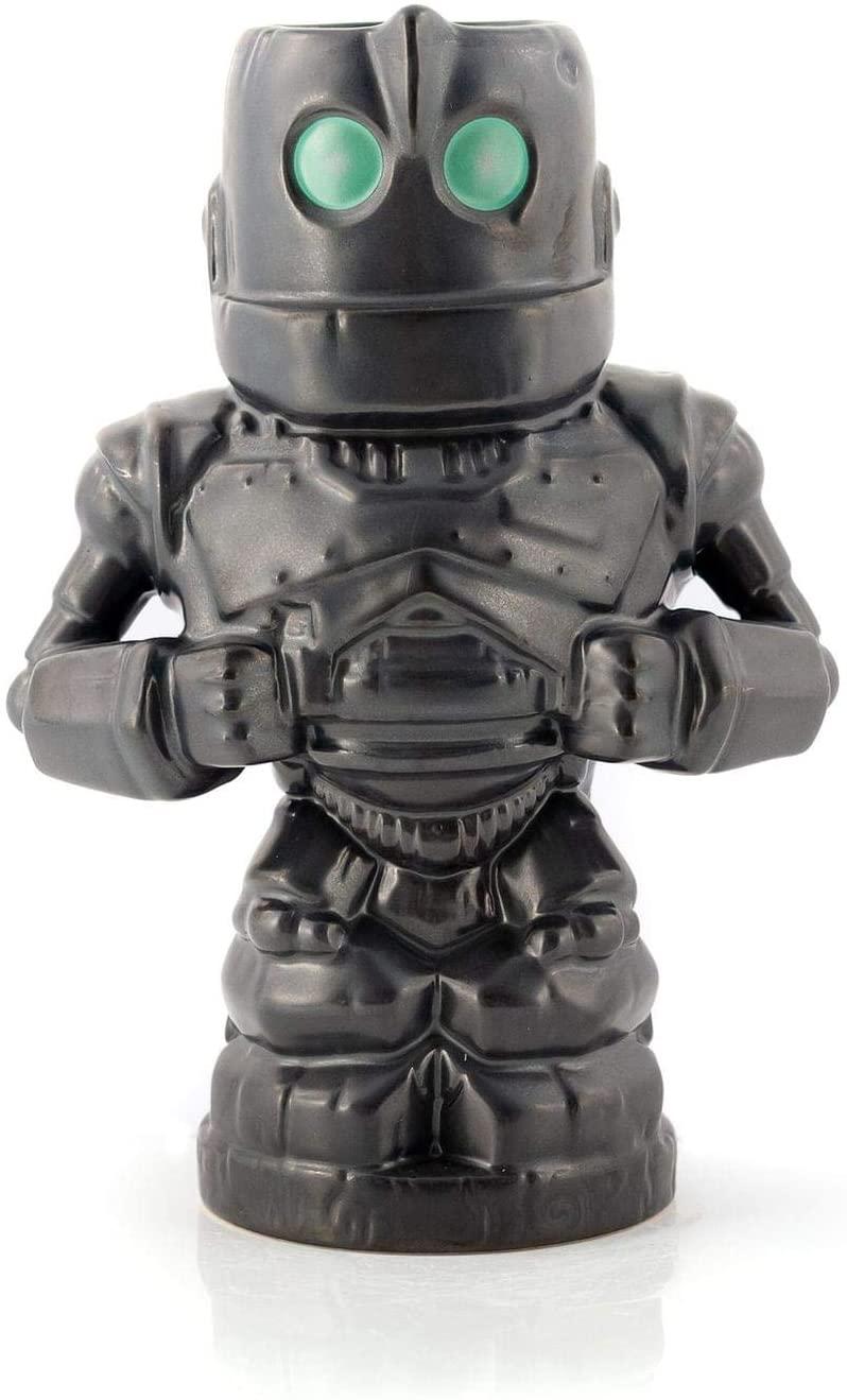 Geeki Tikis 28 ounce Ceramic Mug | Disney Iron Giant | Gray