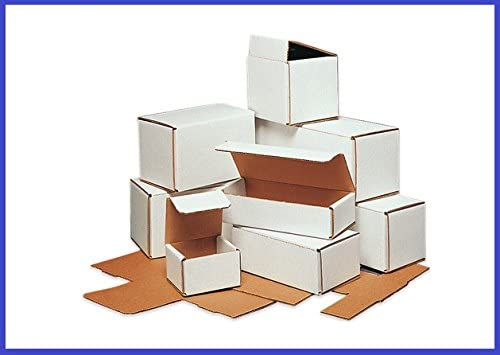 BoxYeah 50 Pack - White Corrugated Mailer Shipping Boxes (Small 3 - 6) - 60 Sizes to Choose - Example (6 x 3 5/8 x 2)