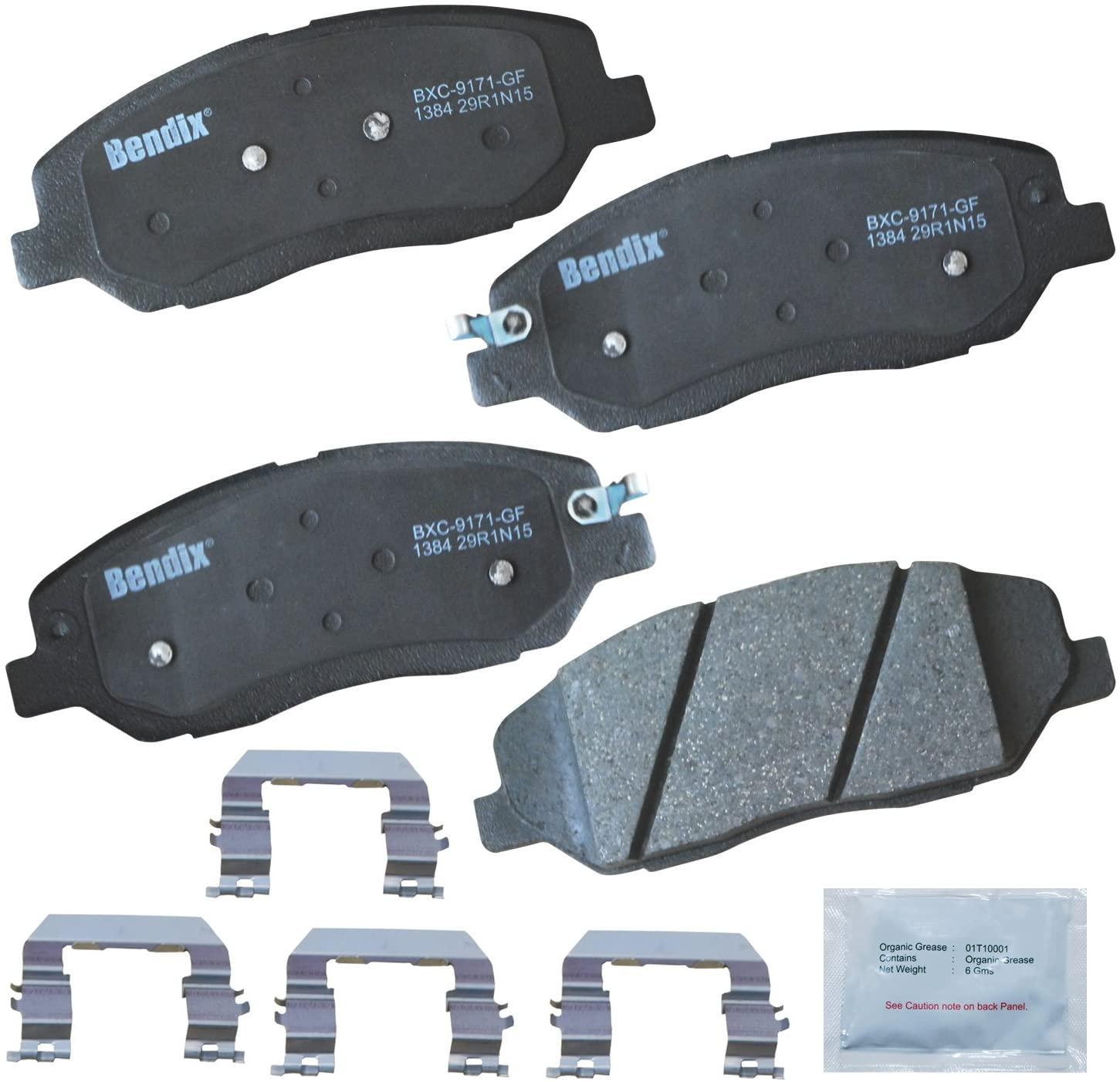 Bendix Premium Copper Free CFC1384 Ceramic Brake Pad (with Installation Hardware Front)