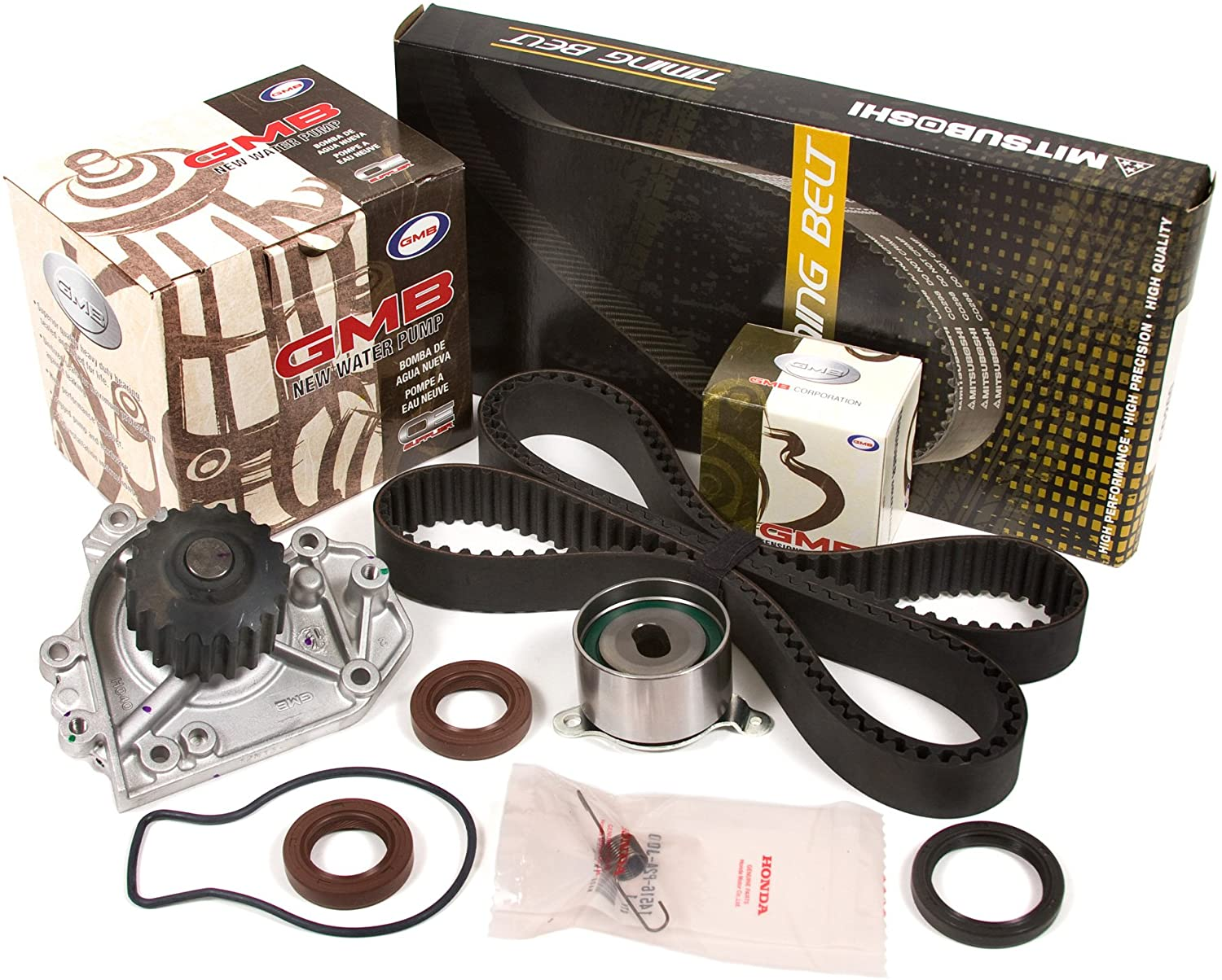 Evergreen TBK184WP2-M Compatible With Timing Belt Kit, and Water Pump: 90-95 Acura Integra GS LS RS Non-Vtec 1.8L B18A1 B18B1 (GMB Water Pump)