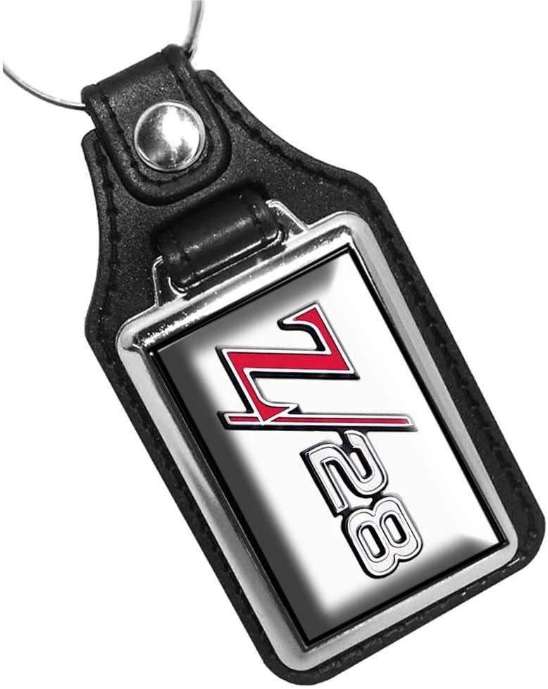 Brotherhood Chevy Camaro Z/28 Printed Emblem Keychain Key Holder Key Ring for Men Heavy Duty Car Keyring for Men and Women