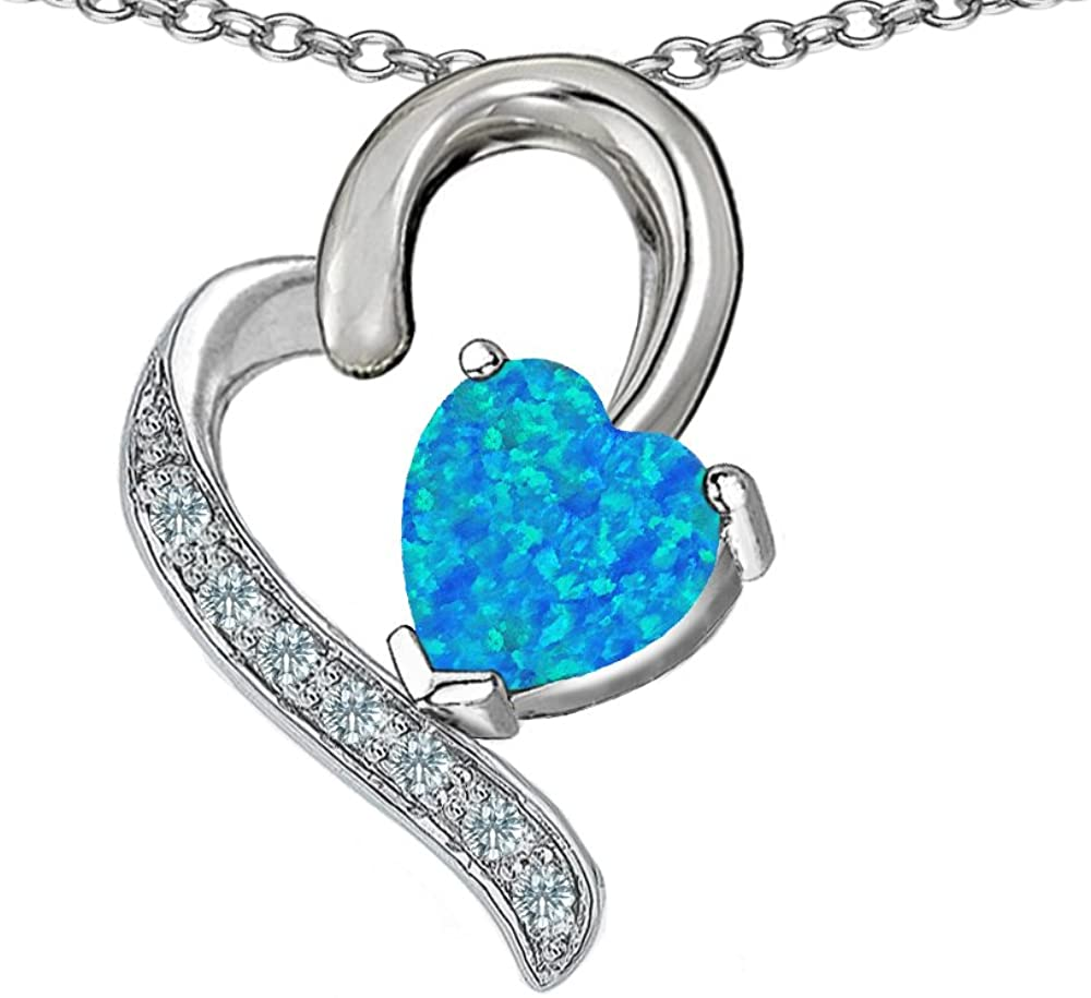 Star K 7mm Heart Pendant Necklace Sterling Silver