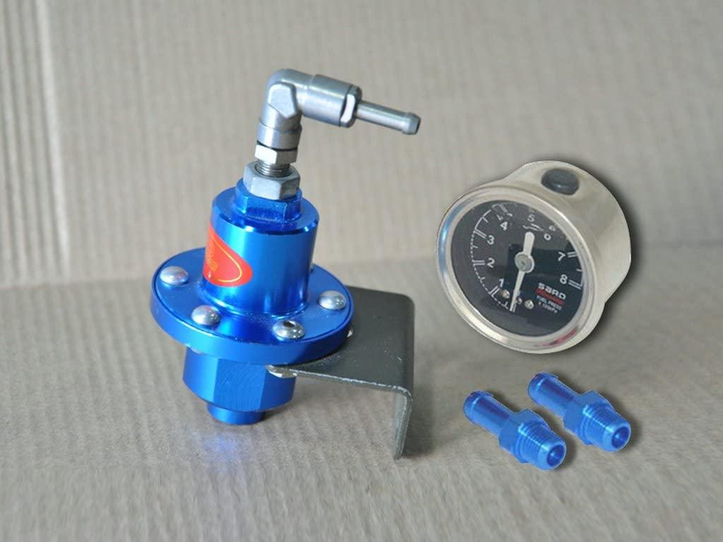 Sunny Car New Adjustable Turbo Fuel Pressure Regulator Oil Gauge Meter RX7 S13 S14 Blue