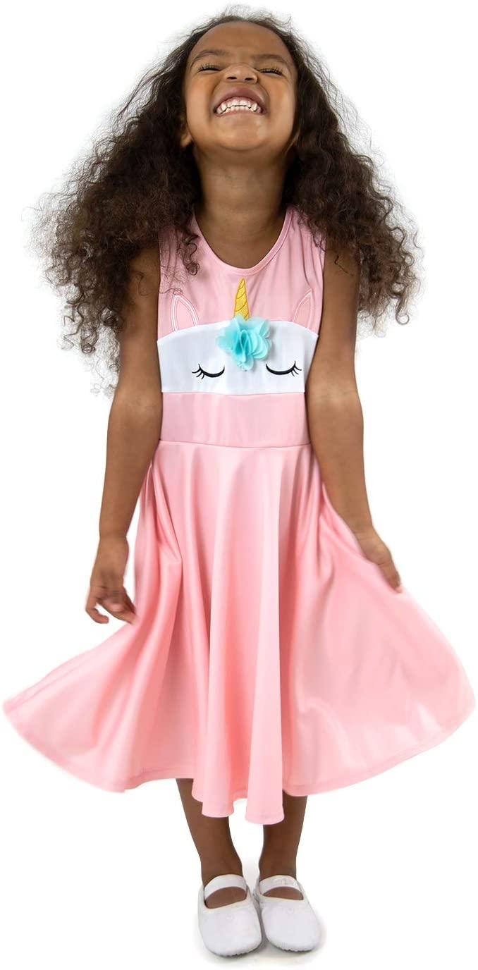 Little Adventures Pink Unicorn Princess Twirl Dress (XX-Large Size 12)