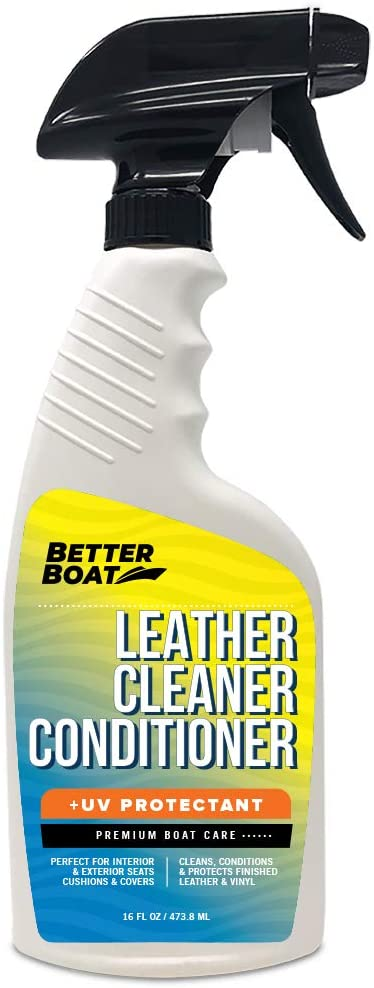 Premium New Marine Leather Conditioner and Cleaner for Boats with UV Resin   Leather Cleaner Boat Accessories Wipes Vinyl Leatherette Upholstery and Boat Seats Clean
