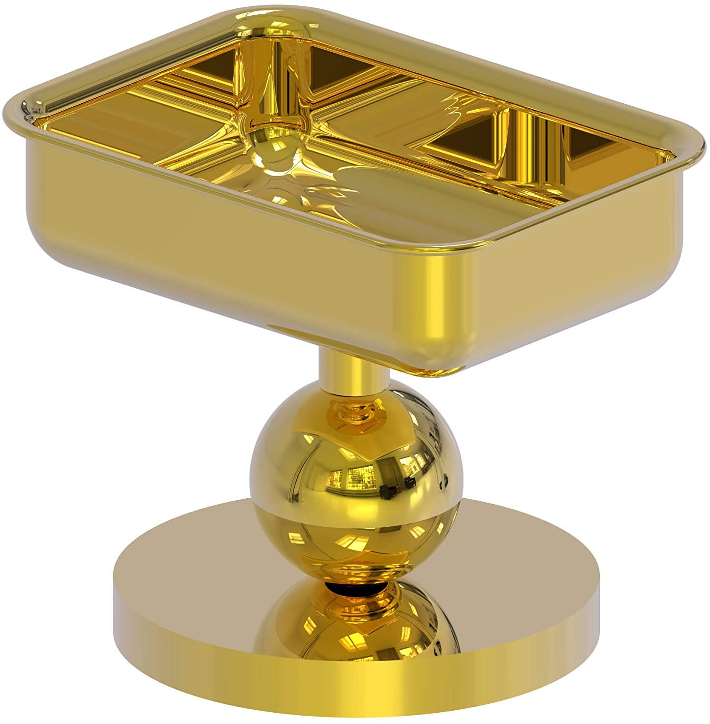 Allied Brass GL-56 Vanity Top Soap Dish, Polished Brass