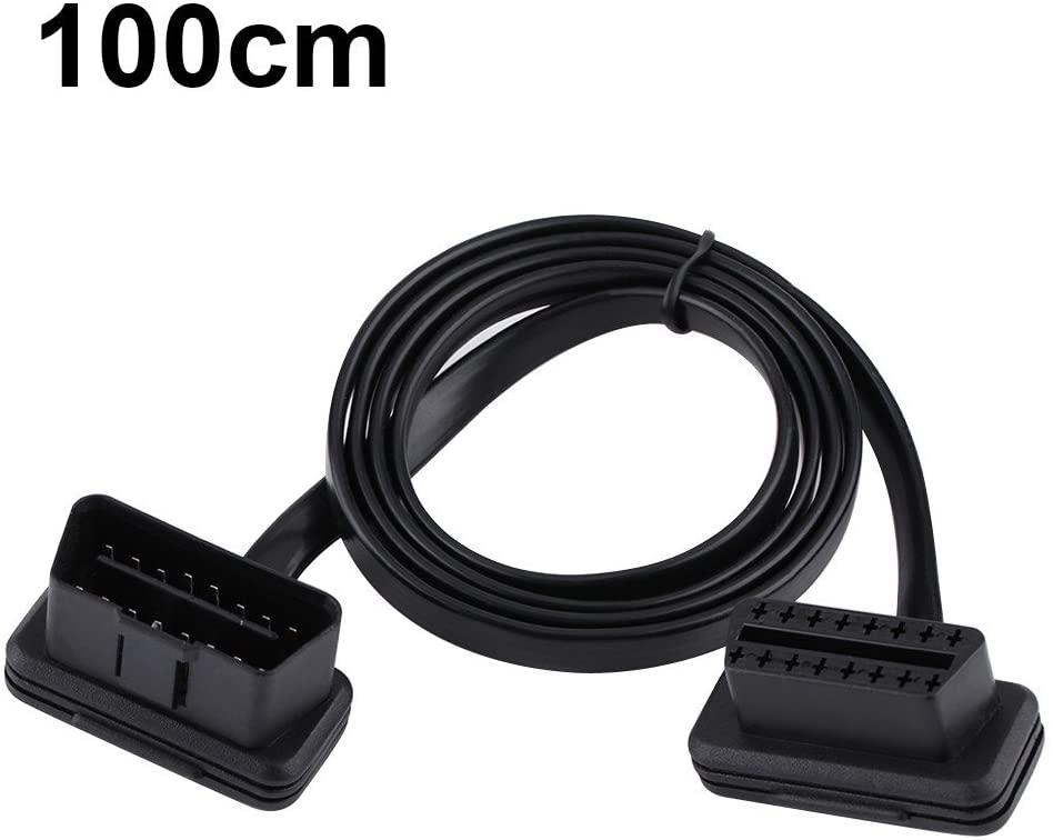 Gorgeri OBD2 Cable,Car Auto 16 Pin Male to Female OBD2 Extension Cable Diagnostic Adapter(100CM)