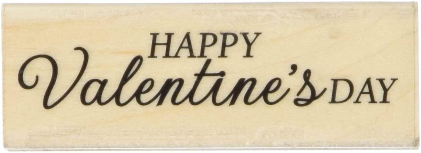 Hero Arts C6013 Woodblock Stamp, Happy Valentine's Day Script