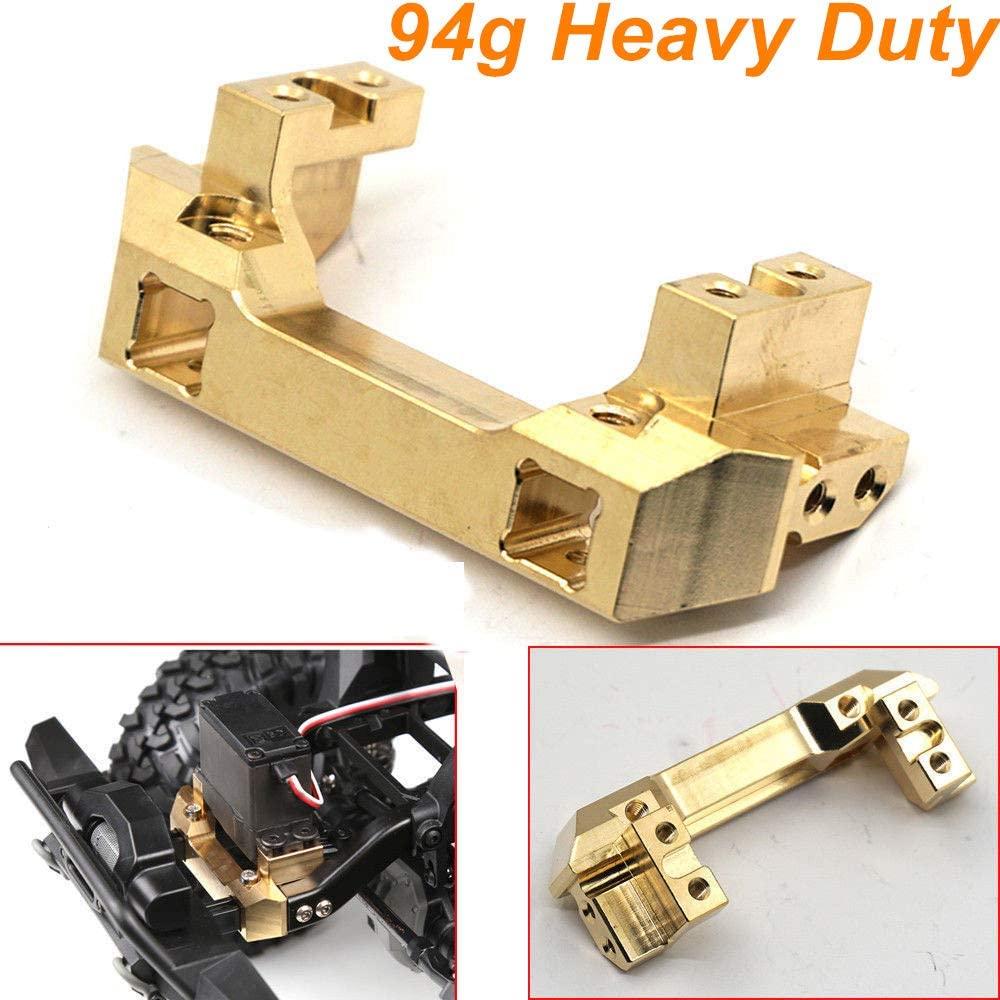 94g/pc Heavy Duty Brass Front Bumper w/Servo Mount for Traxxas TRX-4 TRX4 1/10 RC Crawler Car Hop Up Parts