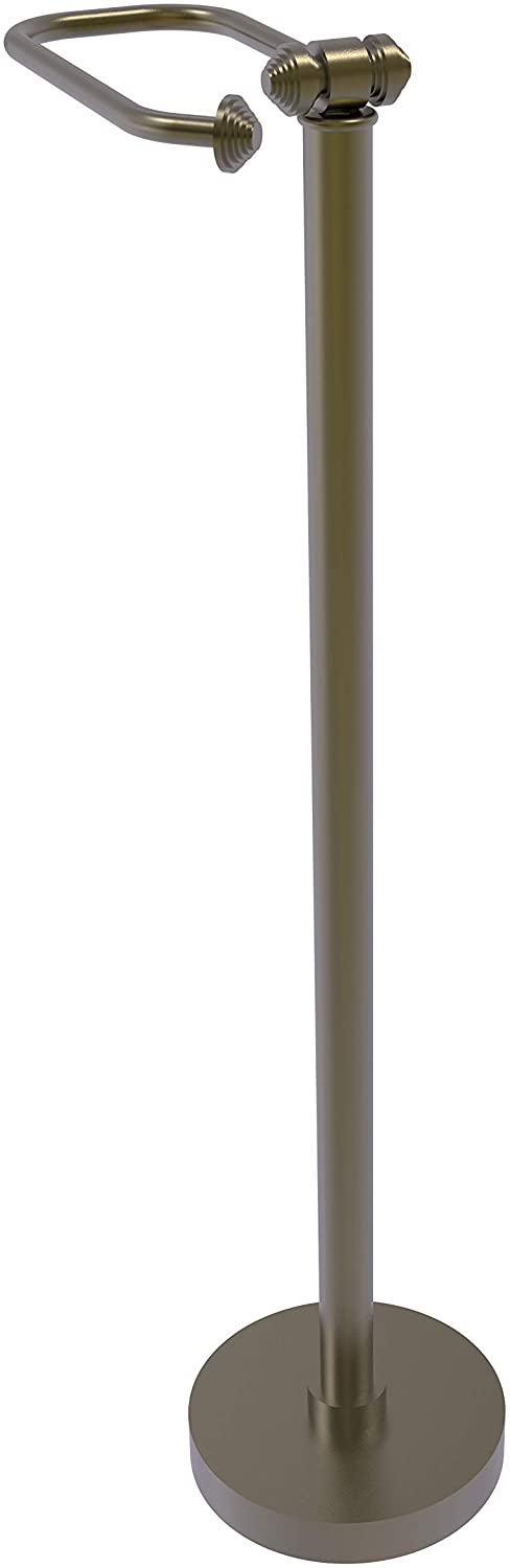 Allied Brass SB-74-ABR Southbeach Collection Free Holder Toilet Tissue Stand, 26-Inch High, Antique Brass