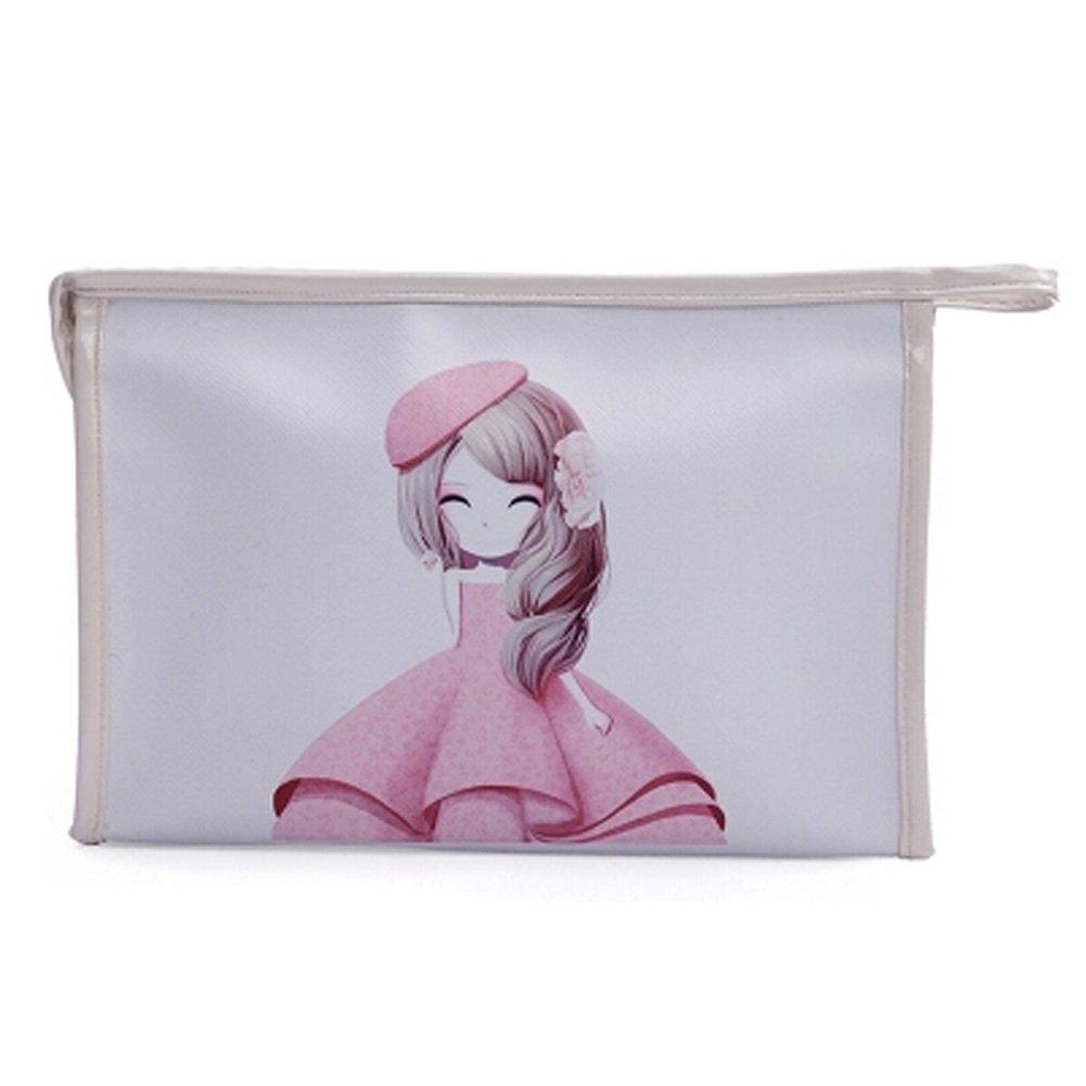 Waterproof Cosmetic bag Handbag Makeup Pouches Makeup Bags, White