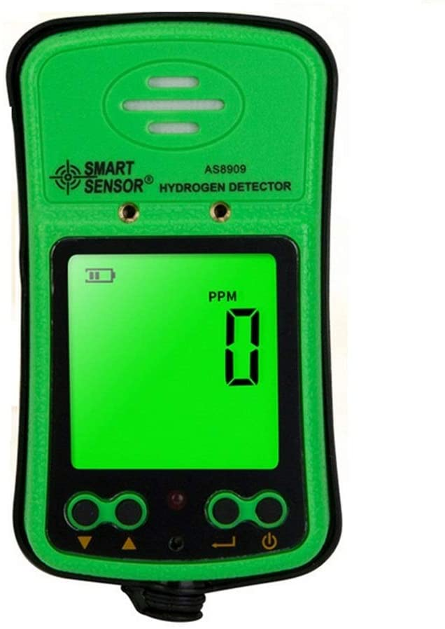 Portable H2 Gas Detector 0~1000ppm LCD Display Rechargeable Li-battery Powered Alarm Handheld Digital Hydrogen Gas Monitor Meter Tester