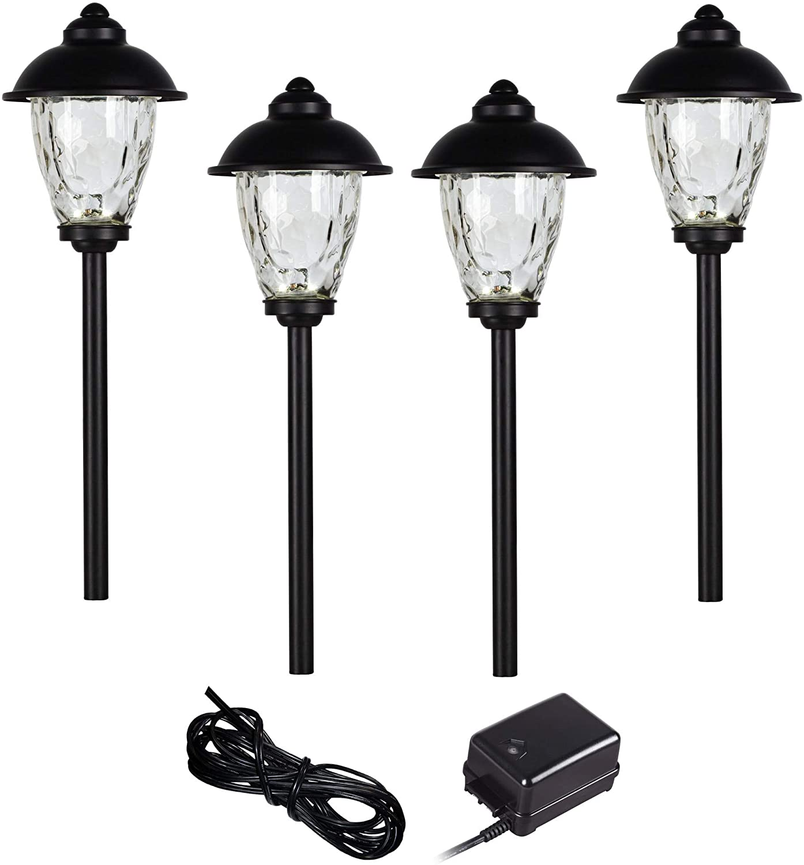 Concord 6-Piece Black Complete LED Landscape Lighting Set - John Timberland