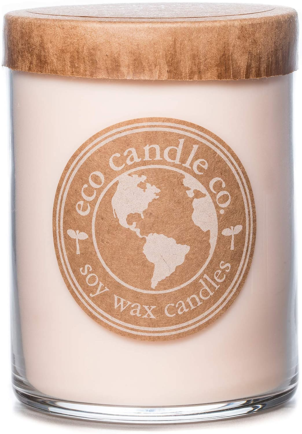 Eco Candle Co. Recycled Candle, Gardenia & Guava, 16 Oz. - 100% Soy Wax, No Lead, Kraft Paper Label & Lid, Hand Poured, Phthalate Free, Made from Midwest Grown Soybeans, All Natural Wicks