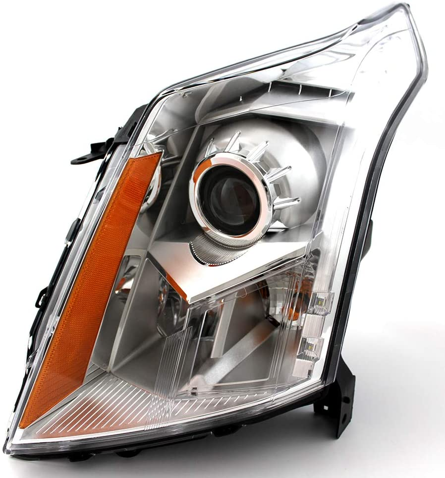 JP Auto Headlight Compatible With Cadillac Srx 2010 2011 2012 2013 Driver Left Side Headlamp