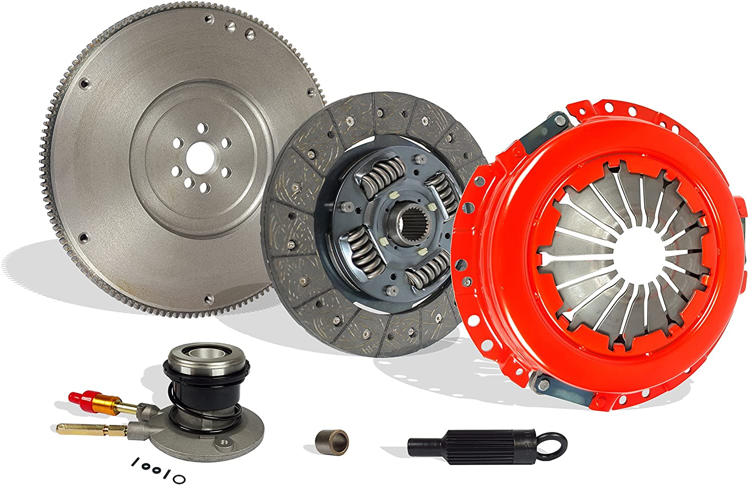 Clutch With Flywheel And Slave compatible with S10 Sonoma Hombre Base LS SL SLS SLE XS Xtreme 1996-2001 2.2L l4 GAS OHV Naturally Aspirated (Stage 1)
