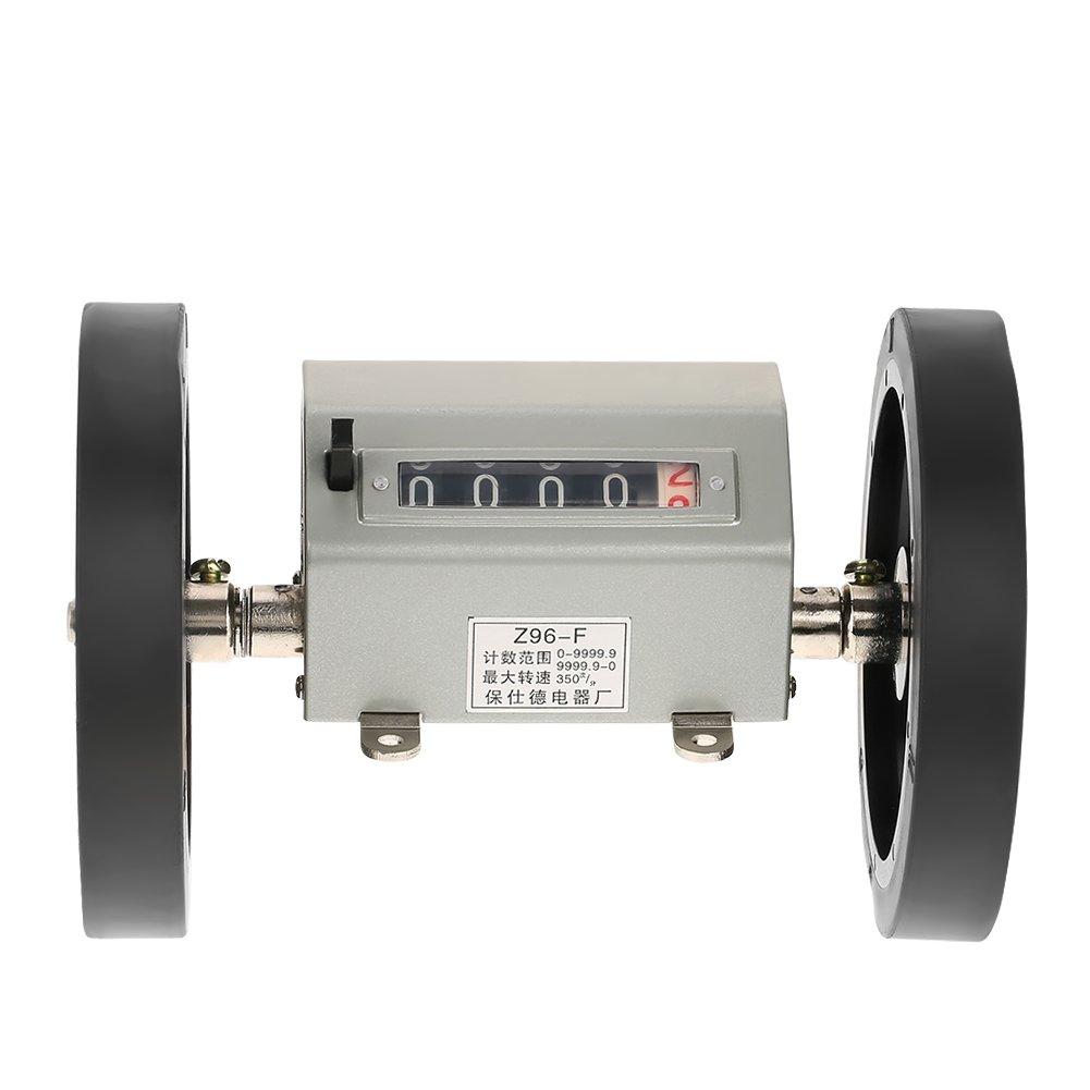 Rolling Wheel Counter,Length Counter Digital Length Meter Counter Length Measuring Wheels Rolling Wheel 5 Digits 0-9999.9 Length Counter Max Speed 350RPM Grey Reset